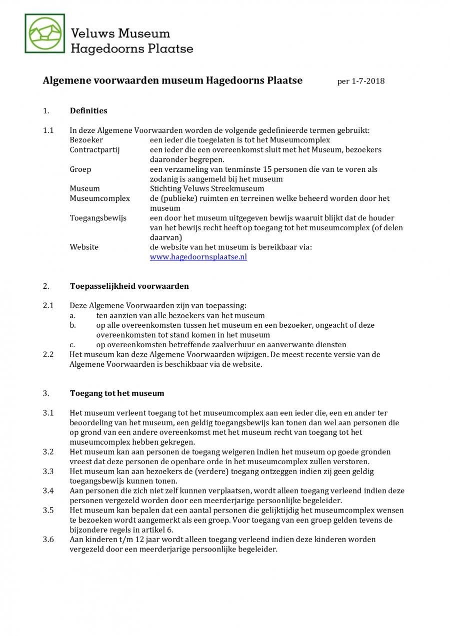 Algemene voorwaarden HP 1