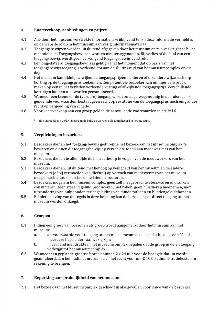 Algemene voorwaarden HP 2