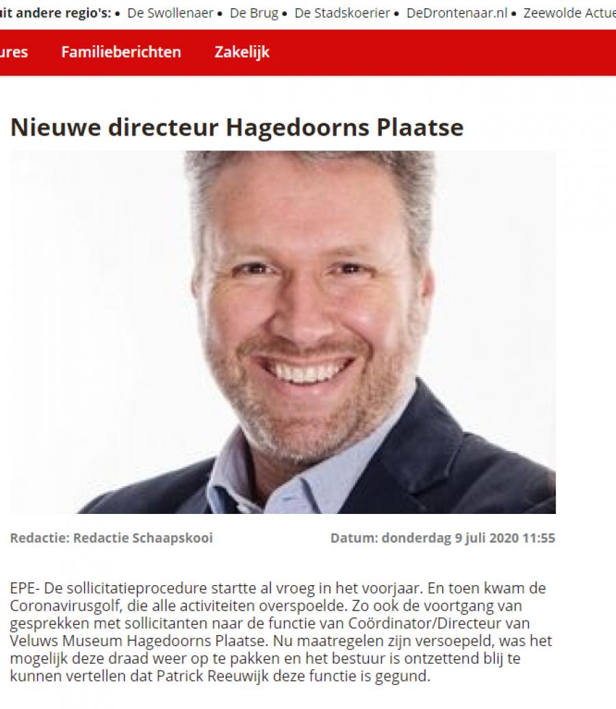HP De Schaapskooi 9 juli 2020 Nieuwe directeur